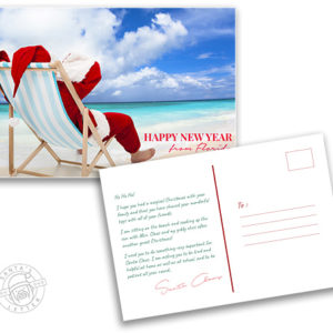 "Santa Postcard ""Happy New Year!"""